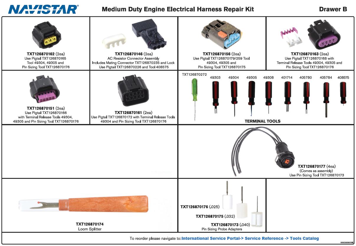 Engine Electrical Harness Repair Kit
