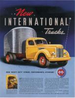 "Vintage New International Trucks Poster 24"" x 36"""