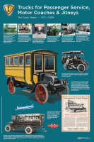 """Vintage Bus History Poster 24"""" x 36"""""""