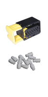 Connector, Kit, includes x12 Cavity Plugs (ea)